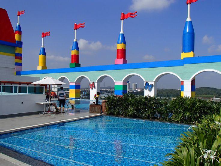 Legoland Malaysia's rooftop swimming pool