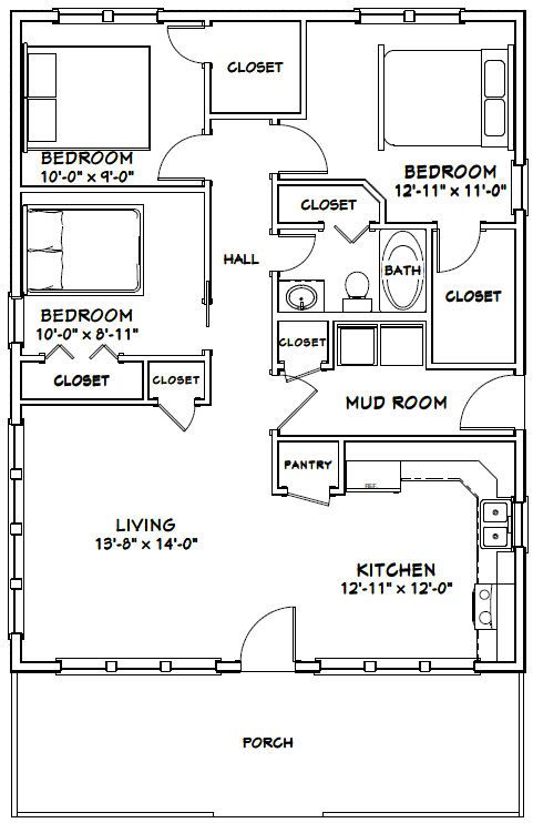Pdf House Plans Change Bathroom Closet To Washer Dryer Change Third Bed To Closet And Master Bedroom Floor Plans Small House Floor Plans House Floor Plans