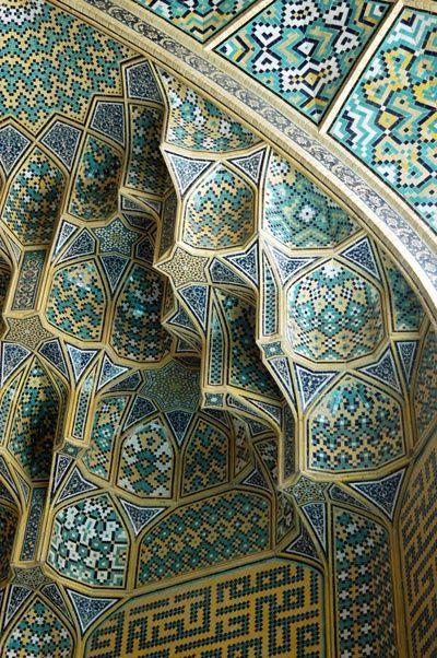 Esfahan-i tile work. (iran)