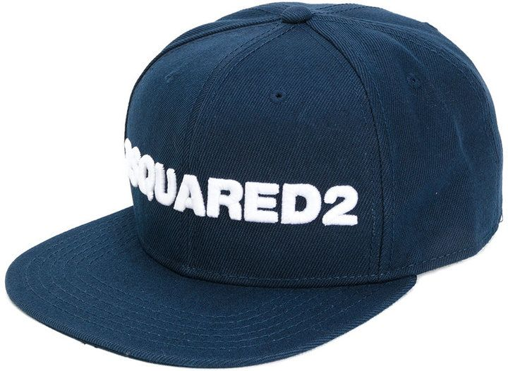 DSQUARED2 logo embroidered snap back cap