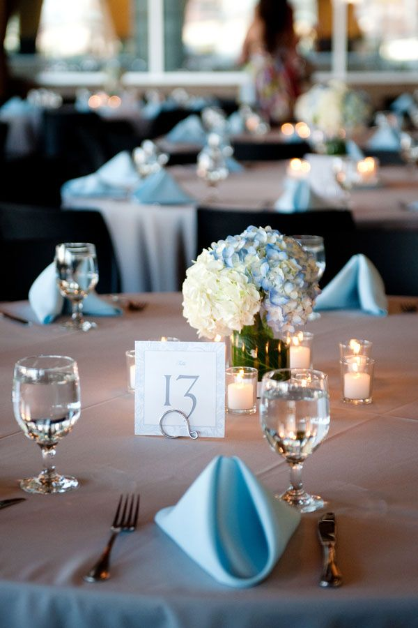 Love Blue Tinged Hydrangeas Wedding Wedding Sky Blue Weddings