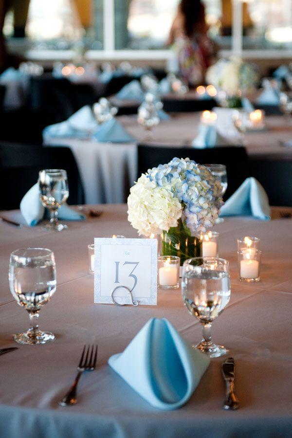 Love Blue Tinged Hydrangeas Wedding In 2018 Sky Weddings Table