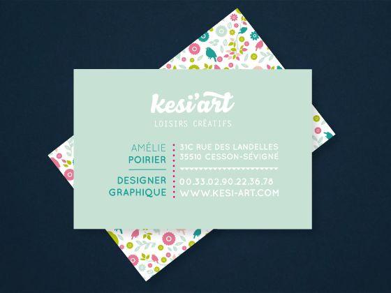 Carte de visite pour l'agence © Kési'art poirieramelie.blogspot.fr