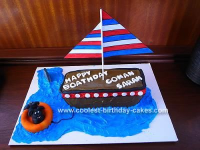 Best Nd Birthday NAUTICAL CAKES Images On Pinterest Nautical - Boat birthday cake ideas