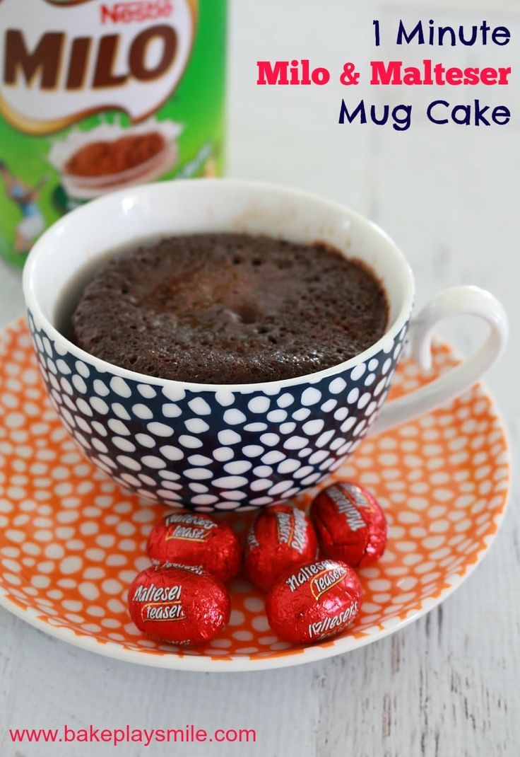 Get your chocolate fix with this delicious single serve 1 Minute Milo & Malteser Easter Egg Mug Cake! The perfect late night treat! #mug #cake #chocolate #malteser #milo #recipe #easy #easter #egg