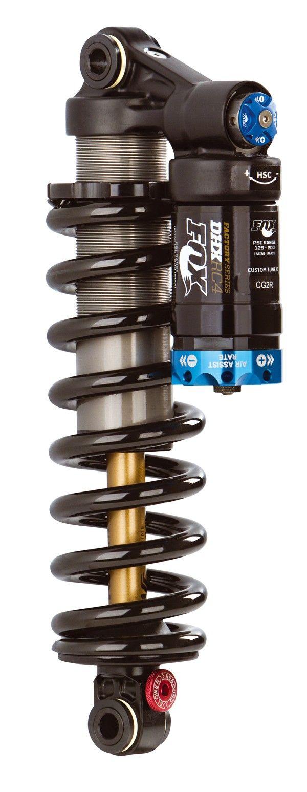 De FOX DHX RC4 demper. Deze FOX DHX demper is in verschillende afmetingen verkrijgbaar.Gewicht447 gram9.5