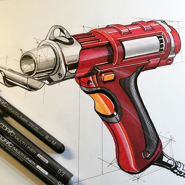 Example sketch for the hand tool studio project #idsketching #productdesign #designsketching #conceptdrawing #industrialdesign #metu #entas #marker #copic #copicart #markersketch #ID #concept #handtool #freehand#mydrawing #markers #illustration #çizgi #çizim