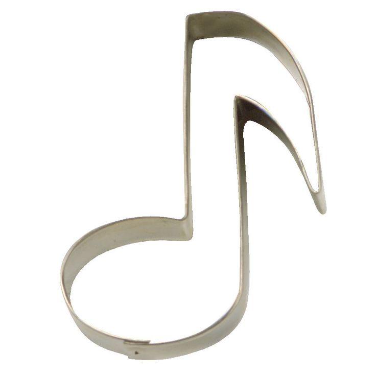 Koekjes uitsteker Muzieknoot 7 cm