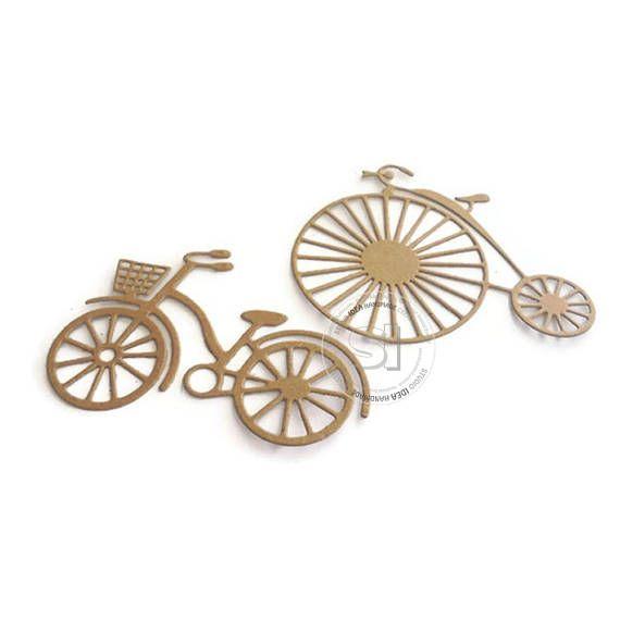 2 styles Bike cut outs Kraft cardpaper Bicycle die