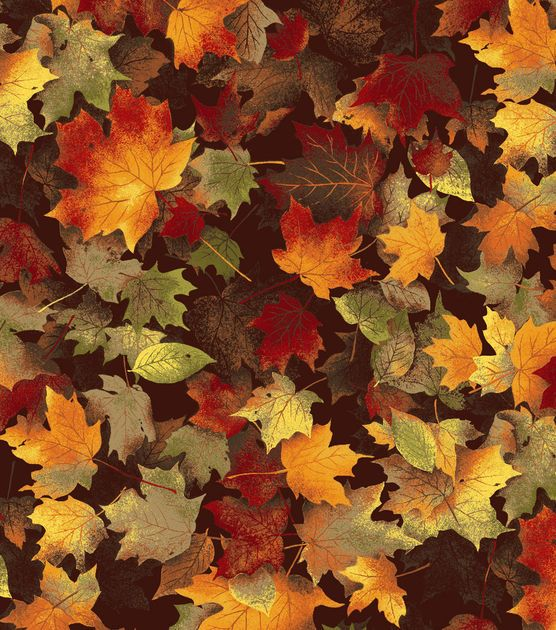 Autumn Inspirations Fabric-Maple Leaves Chocolate Item # 9682014 | Joann table runner?
