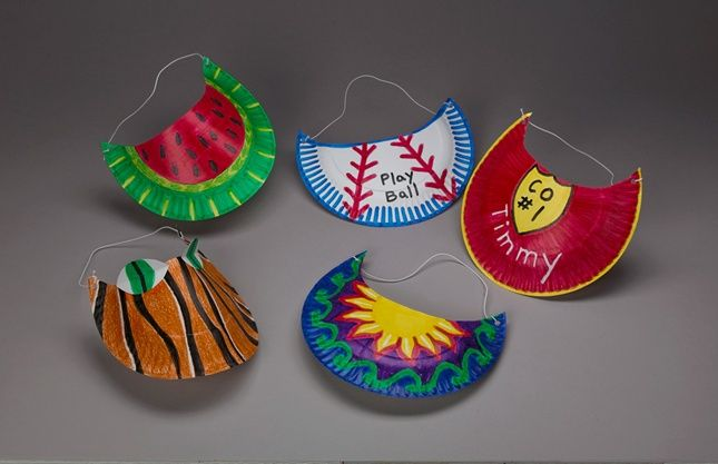 sports crafts for kids | you ll be made in the shade when you wear a colorful sun visor turn ...