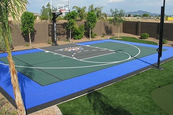 32 best backyard sport court images on pinterest for How to build your own basketball court