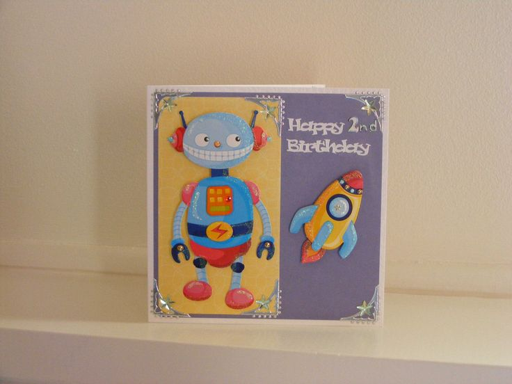 Space man Birthday Card