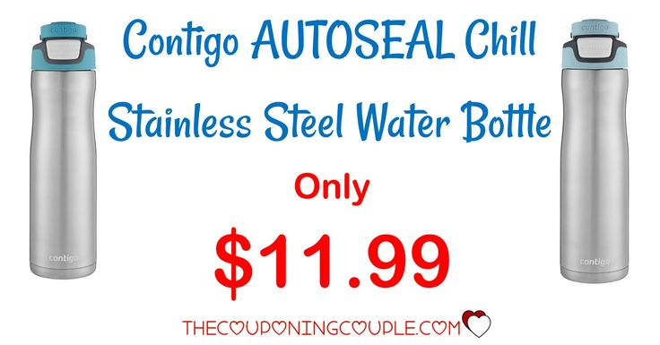What a deal! Get a Contigo AUTOSEAL Chill Stainless Steel Water Bottle for only $11.99! Great for at home or on the run!  Click the link below to get all of the details ► http://www.thecouponingcouple.com/contigo-autoseal-chill-stainless-steel-water-bottle/ #Coupons #Couponing #CouponCommunity  Visit us at http://www.thecouponingcouple.com for more great posts!