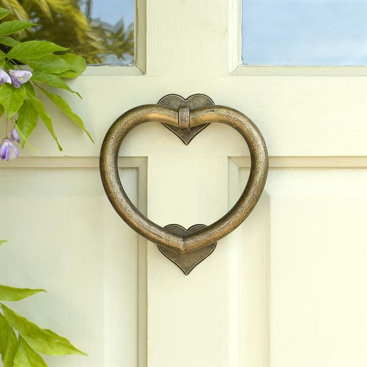 Add a little love to your front #door with our beautiful #solid #brass #Heart #Door #Knocker.