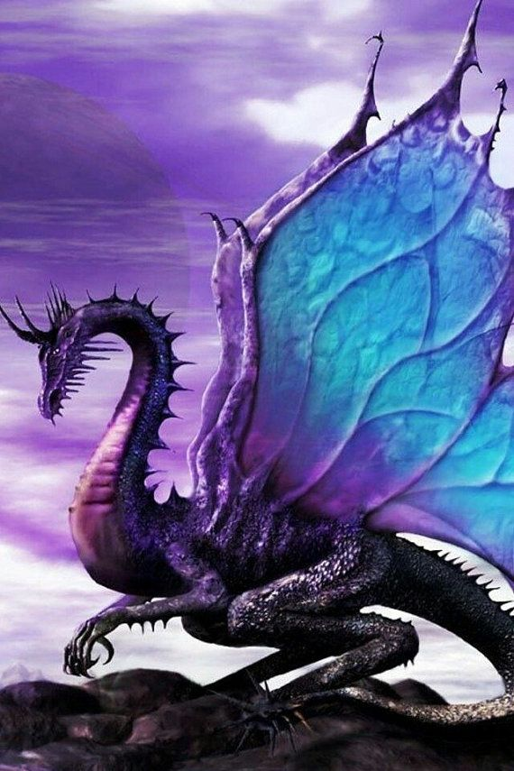 Dragon           Blue and Purple Male Dragon Highly Magickal by MamiesRose  Up for your consideration is a male Blue and Purple dragon..He is psychic and gives accurate psychic information. His gifts are listed below:   Psychic abilities  Wish granting  Protection  Abundance Prophetic dreams  Telepathy   Astral Projection  Remote Viewing  Manifestation  Magick casting  Draconic Magick  Healing  Reading minds