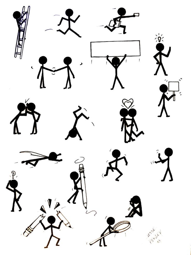 stick figure concepts by jessehenley traditional art drawings other ...