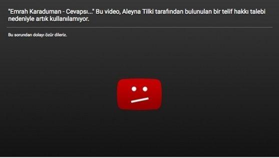 Aleyna Tilki'nin şarkısı neden YouTube'dan kaldırıldı?