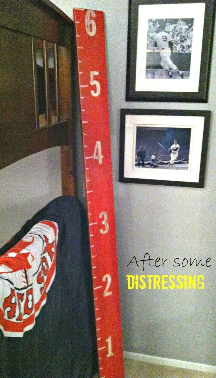 DIY Growth Chart for a Kid's Room!