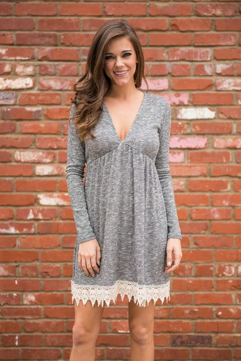 """""""Top Of The Morning Tunic, Charcoal"""" 