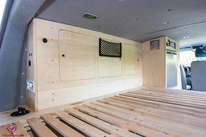 Hier findest du eine detaillierte Auflistung und viele Hilfestellungen zum Möbelbau für den VW Bus inkl. Maße und Ausbauvorschlägen für den VW T5.