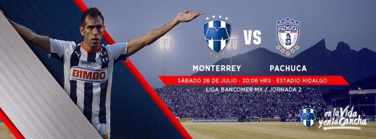 ¡Unidos los #Rayados en la Jornada 2! Pachuca vs. Club de Futbol Monterrey el sábado 26 de julio a las 20:06hrs en el Estadio Hidalgo. #VamosRayados