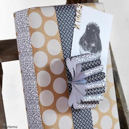 Cinta de papel Black & White - Círculos - 5 cm x 6,5 m - Fotografía n°5