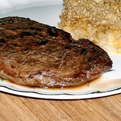 Steak Continental Allrecipes.com I've made this for several years and it's a favorite of my family. It uses round steak which the marinade tenderizes it beautifully.