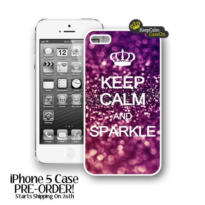 iPhone 5 Case, Keep Calm Sparkle