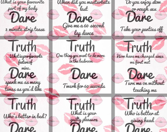 Truth Or Dare Couples Naughty Game  Perfect For Date -6298