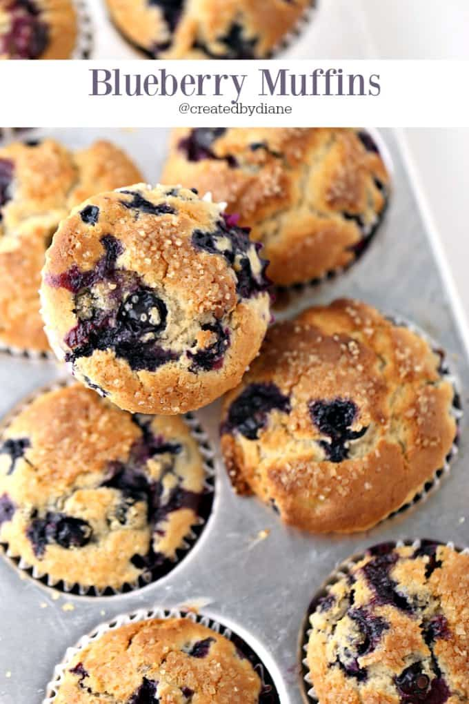 the best blueberry muffins @createdbydiane