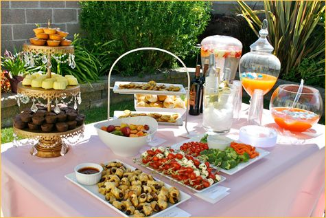 very simpleParties Buffets, Food Displays, Shower Ideas, Food Tables, Food Ideas, Shabby Chic Baby, Parties Ideas, Baby Shower Parties, Baby Shower