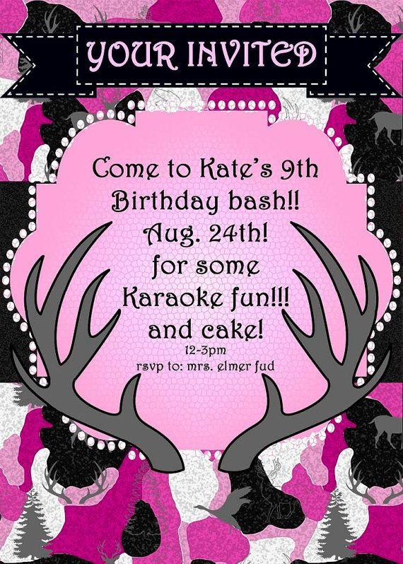 17 Best images about hunting party – Hunting Party Invitations