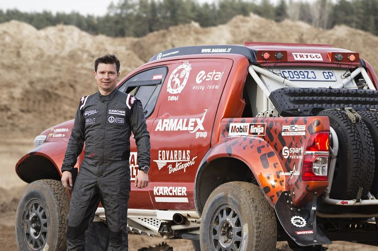 Dakar rally 2016 competitor Antanas Juknevicius