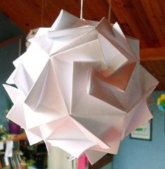 Tuto origami lamp #origami                                                                                                                                                                                 More