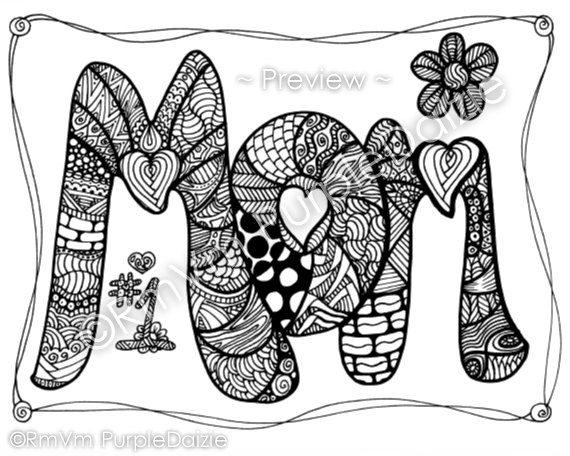 Mother S Day Adult Coloring Pages