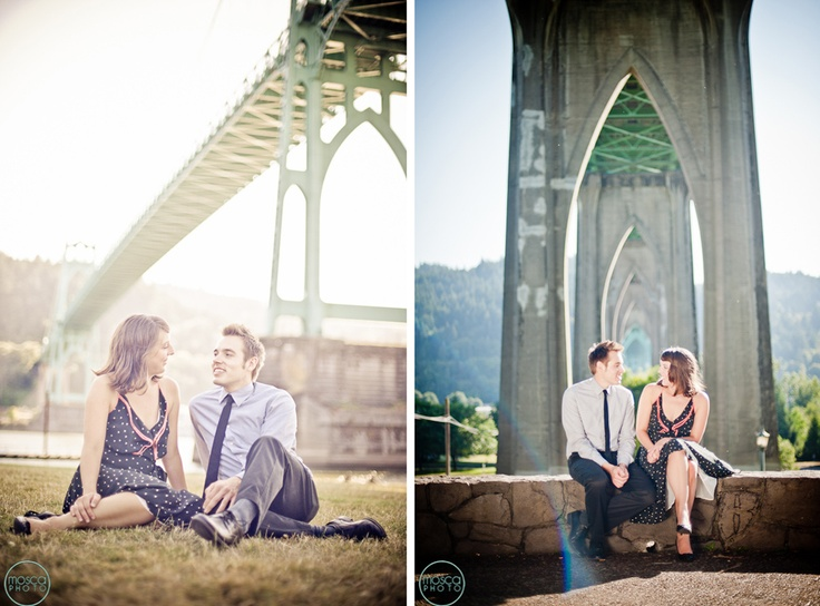Cathedral Park, Portland engagement photo #moscaphoto