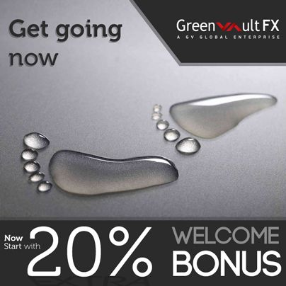 Greenvault #FX is glad to announce the 20% withdrawable welcome bonus. From now the company will offer the welcome bonus for the first deposit with minimum of 1 #USD. It is applicable only for #MT4 classic account holders.
