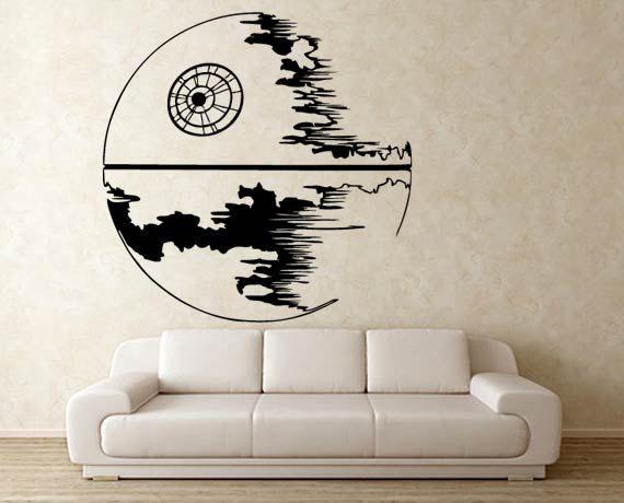 Star Wars Death Star Vinyl Wall Decal Wd 0303