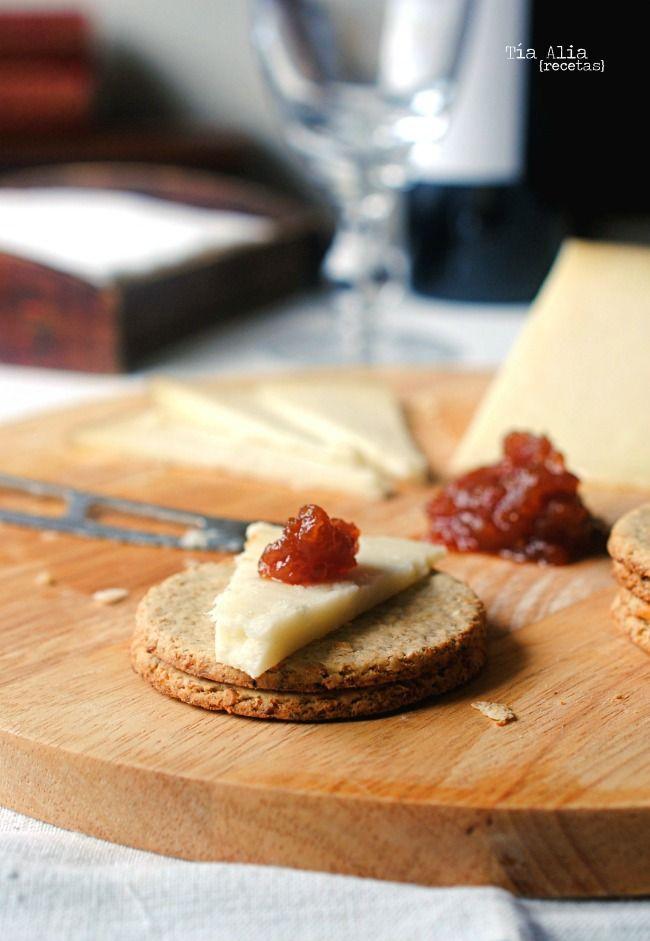 Galletas de avena para acompañar quesos