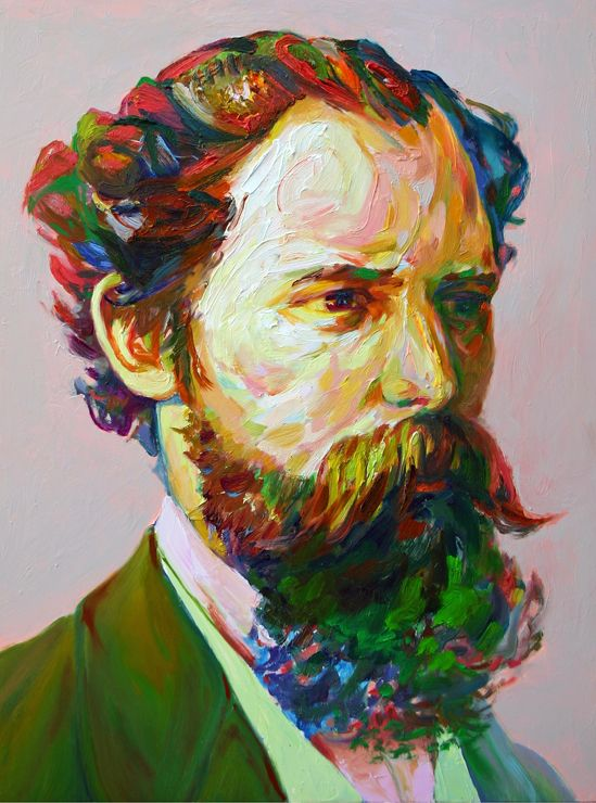 "Aaron Smith ""Blaggard"", 2013, oil on panel, 24"" x 18"" http://www.sloanfineart.com/index.html"