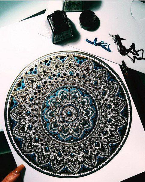 Фотография   Мандалы, Рисунок узора мандала, Дизайн узора ...