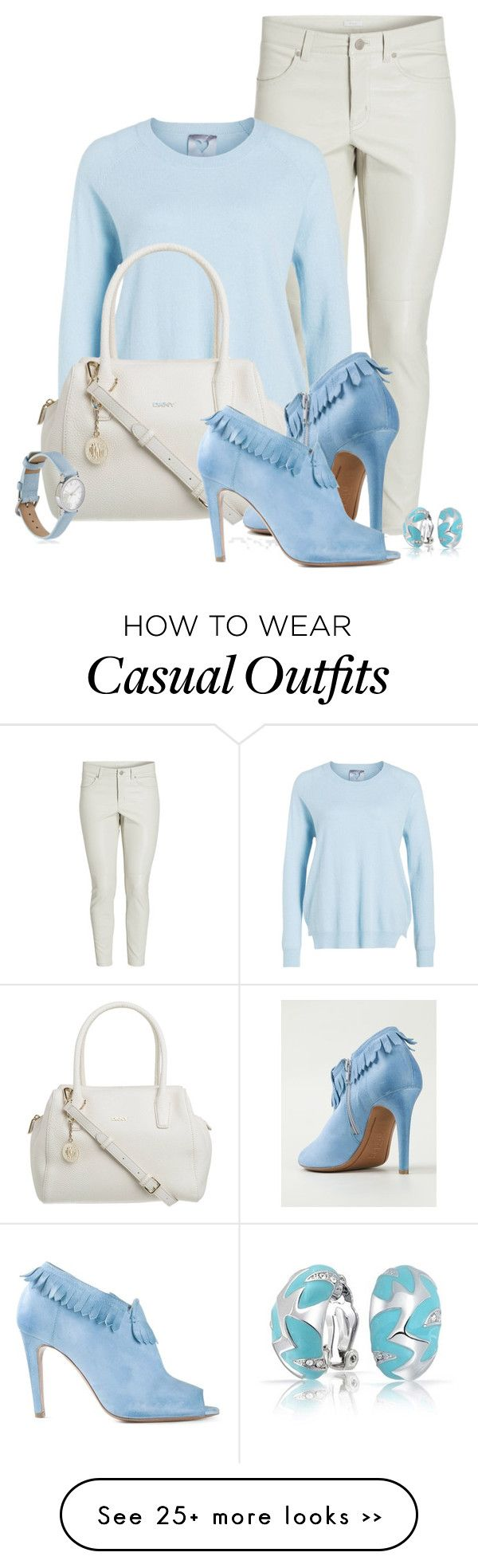 """Casual outfit: Light Blue - White"" by downtownblues on Polyvore"
