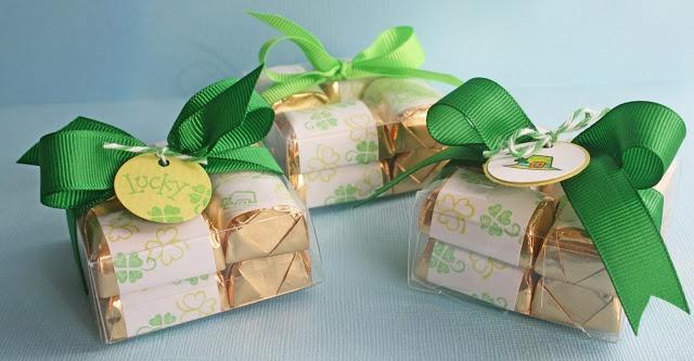 DeNami St. Patrick's Day Treat Boxes by @Wendy Elliot #irish #green #chocolate