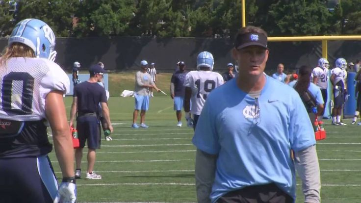 Defensive coordinator Gene Chizik gets mic'd up on Day 4 of Tar Heel training camp.