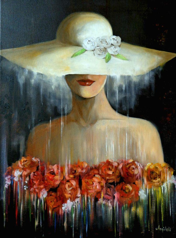 Mistero, Oil painting by Anna Rita Angiolelli   Artfinder