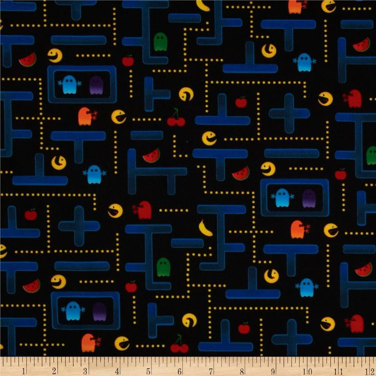 Timeless Treasures Video Game Black from @fabricdotcom  Designed for Timeless Treasures, this cotton print fabric is perfect for quilting, apparel, crafts, and home decor items.