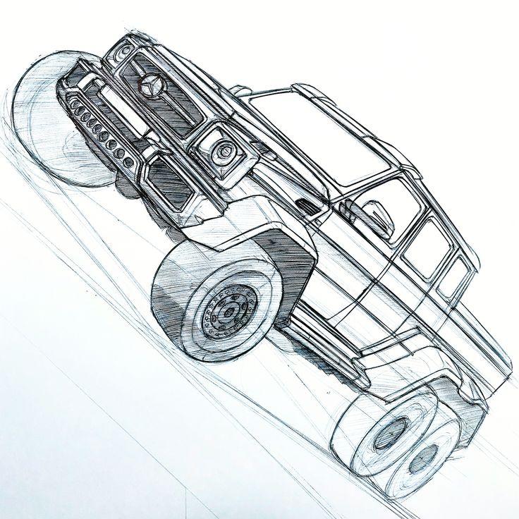 mercedes benz g63 amg 6x6 concept sketchbaaam7991