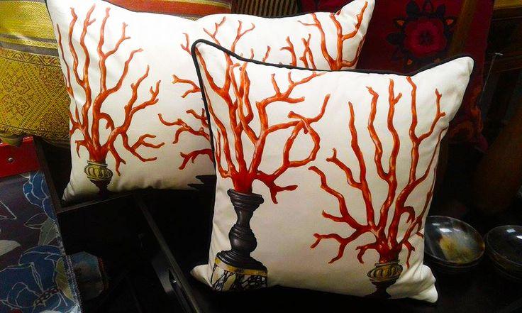 Coral motif By Dedar. Cotton front, linen back