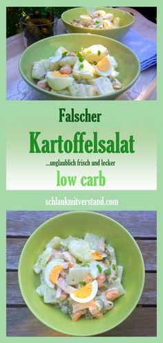 Ich liebe diesen Salat zu kurzgebratenem Fleisch, zu Gegrilltem oder nehme ihn gerne mit zum Picknick. Die Kartoffeln vermisse ich überhaupt nicht. Der Salat schmeckt so viel frischer. Falscher Kartoffelsalat low carb Rezept für 4-6 Personen auf schlankmitverstand.com #low carb #abnehmen #Rezepte #kochen #Gesundheit #Food